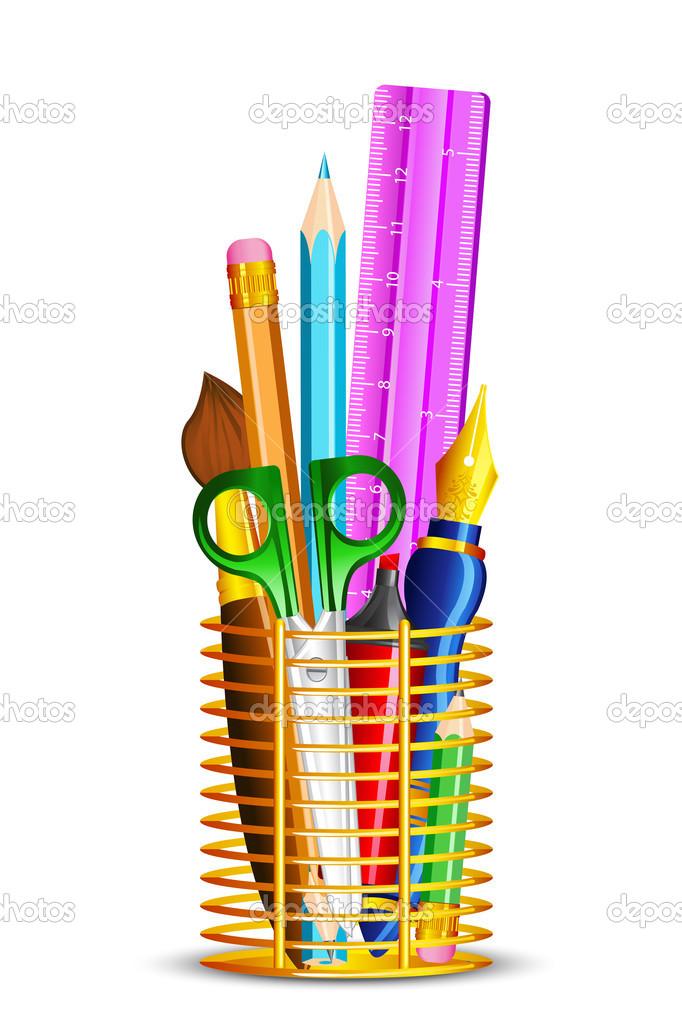 Material de oficina vector de stock stockshoppe 13358351 for Material de oficina