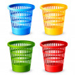 Colorful Dustbin — Stock Vector