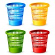 Stock Vector: Colorful Dustbin