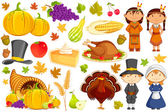Thanksgiving Collection — Stock Vector
