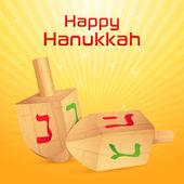 Hanukkah Dreidel — Stock Vector