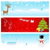 クリスマス バナー — ストックベクタ