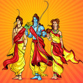 Rama, Laxmana and Sita — Stock Vector