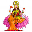 Stock Vector: Goddess Lakshmi