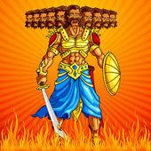 Burning Ravana in Dussehra — Stock Vector