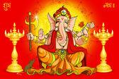 Ganesh ve deepawali — Stok Vektör