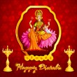 Goddess Lakshmi - Stock Vector