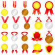 Medal set — Stock Vector #14038286