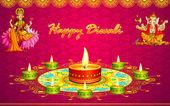 Diwali groeten — Stockvector