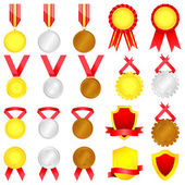 Medal set — Stock Vector