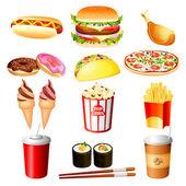 Fastfood — Stockvektor