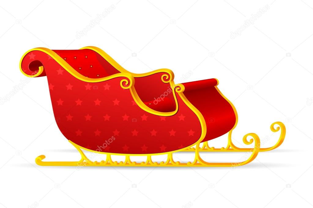 Vector illiustration of santa's slegde against white — Stock Vector #14035869