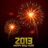 New Year Firework — Stock Vector