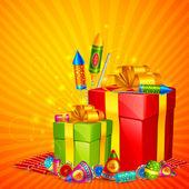 Diwali Gift — Stock Vector