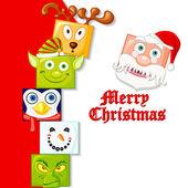 Happy Christmas Character — Stock Vector