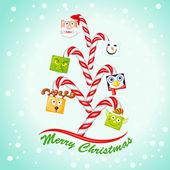 Funny Christmas Tree — Stock Vector