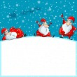 Funny Santa group enjoying Christmas — Stock Vector