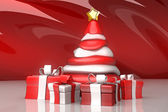 Christmas Tree with Gift — Foto de Stock