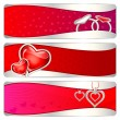 Love Banner — Stock Vector