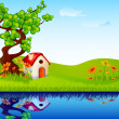 Home in Nature — Imagen vectorial
