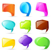 3d Chat Bubble — Stock Vector