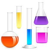 Laboratory Glassware — Stock Vector