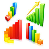 Colorful Bar Graph — Wektor stockowy