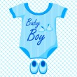 Baby Boy Dress — Stock Vector