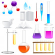 Stock Vector: Laboratory Glassware