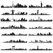 Stock Vector: Skyline of famous city