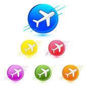 Letadlo ikona — Stock vektor