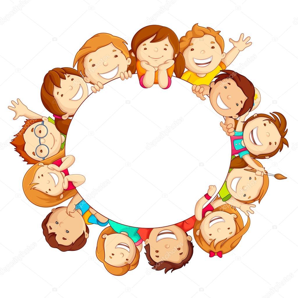 Kids around Circle — Stock Vector © stockshoppe #21175803