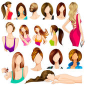 Female Hair Style — Stock Vector