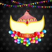 Vintage Circus Poster — Stock Vector