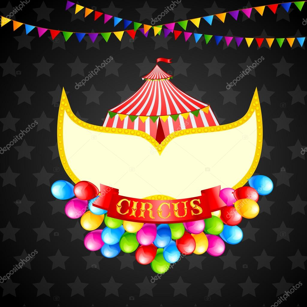 Vector illustration of vintage circus poster with copyspcae — Stock Vector #21180779