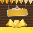 Retro Background with Ribbon Bow — Stock Vector