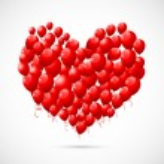 Heart shape Balloon — Stock Vector