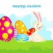 Easter Bunny with Colorful Egg — Stock Vector