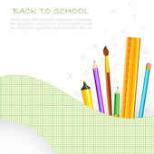 School Stationery — Stockvektor