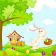 Stock Vector: Easter Bunnies