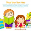 Kids studying — Stock Vector #22441465
