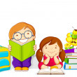 Kids studying — Stock Vector #22441715