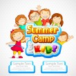 Summer Camp for Kids — Imagen vectorial