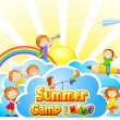 Summer Camp for Kids — Stok Vektör