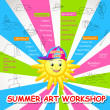 Summer Art Workshop — Stock Vector #23206206