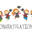 Happy Graduates — Stock Vector