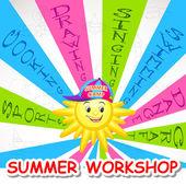 Summer Art Workshop — Stock Vector