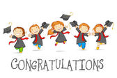 Happy Graduates — Vector de stock