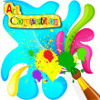 Stock Vector: Art and Painting Competition Poster