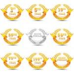 Anniversary Celebration Badge — Stock Vector #23224000